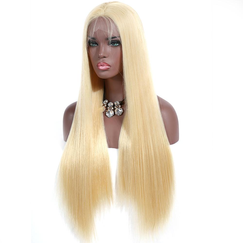 2018 nuevo estilo Premier pelucas de encaje de Color rubio cabello virginal  chino doble dibujado peluca 03dd1b3cc667