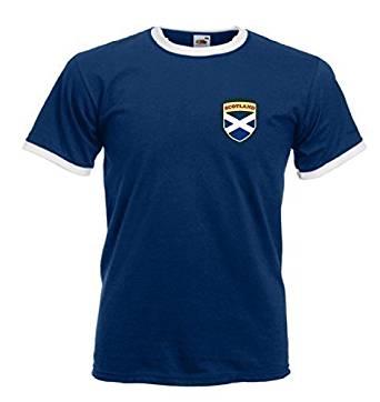 Sports Crazy unisex Scotland Scottish Rugby Soccer Football Crest T Shirt