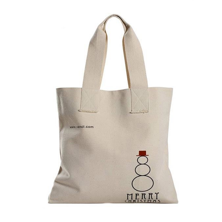 Factory supply unique design handled eco shopping cotton canvas bag black embellish