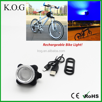 Rechargeable COB USB Rechargeable Bike Light for Rear