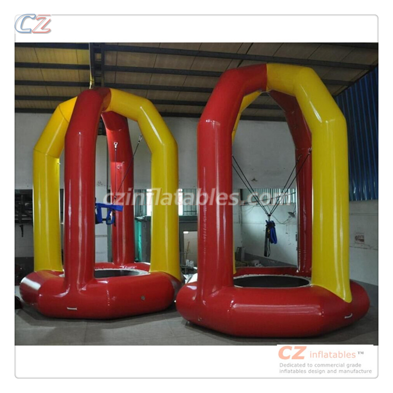 New pop sale creative sport games wholesale inflatable bungee jumping factory price