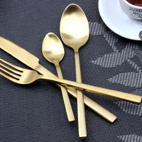 PVD Titanium Plated Rose Gold Spoons, Matte Rose Gold Flatware, Matte Rose Gold Cutlery