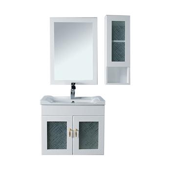Sanitary Ware PVC Small Size Corner Bathroom Mirror Cabinet