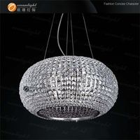 RGB rainbow seven color crystal ball adjustable crystal chandelier house decoration om8153