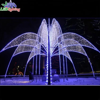 European Style Running Water Fountain Led Motif Lights Outdoor Christmas Decorations Large