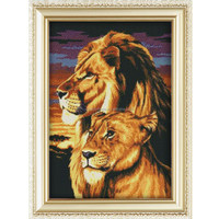 Popular design lions pattern diy crystal diamond painting 30*40cm