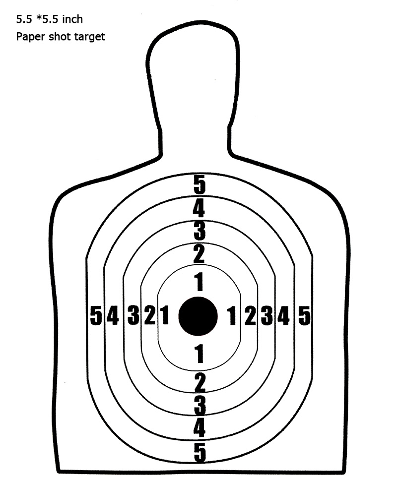 This is a graphic of Printable Silhouette Target within custom