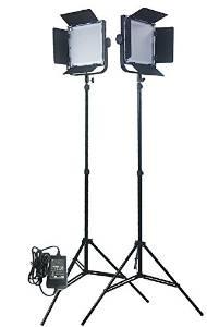 Fancierstudio 576 LED Light Panel Kit Video Lighting Kit Lighting Kit Two 576 LED Panels with 7ft Lightstand by Fancierstudio Fan576k2