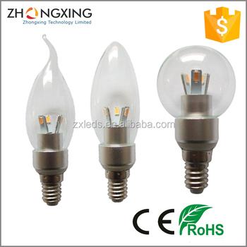 E10 E11 E12 E14 E17 B15 Led Canle Bulb 3w Non Dimmable Ac85 265v Dimmable 100 130v 200 240v Buy E12 3w Led Candle Bulb Dimmable E12 Led Candle
