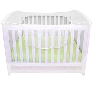 Happy playpen safety foldable baby bassinet crib cradle cover zipper mosquito net