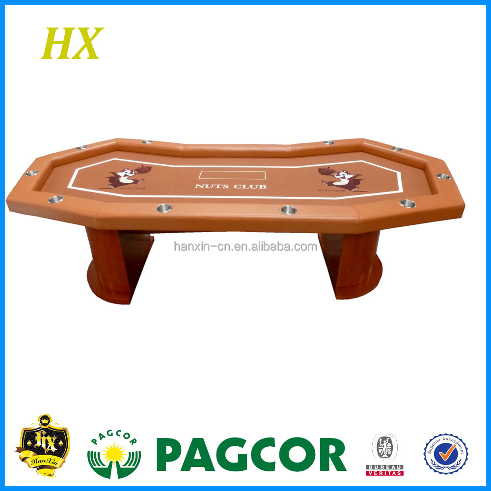 Casino Game table holdem poker table dimension with drink cup holder