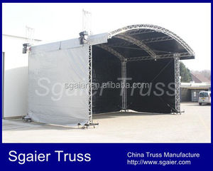 8x6m aluminum truss stages with arched roof