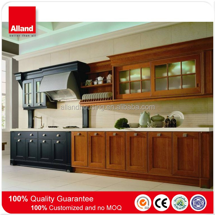 Knockdown Kitchen Cabinets: Guangzhou Wood Carving Plywood Carcass Knock Down Kitchen