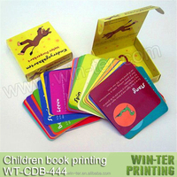 children flash card set with box for learning and education WT-CDB-444