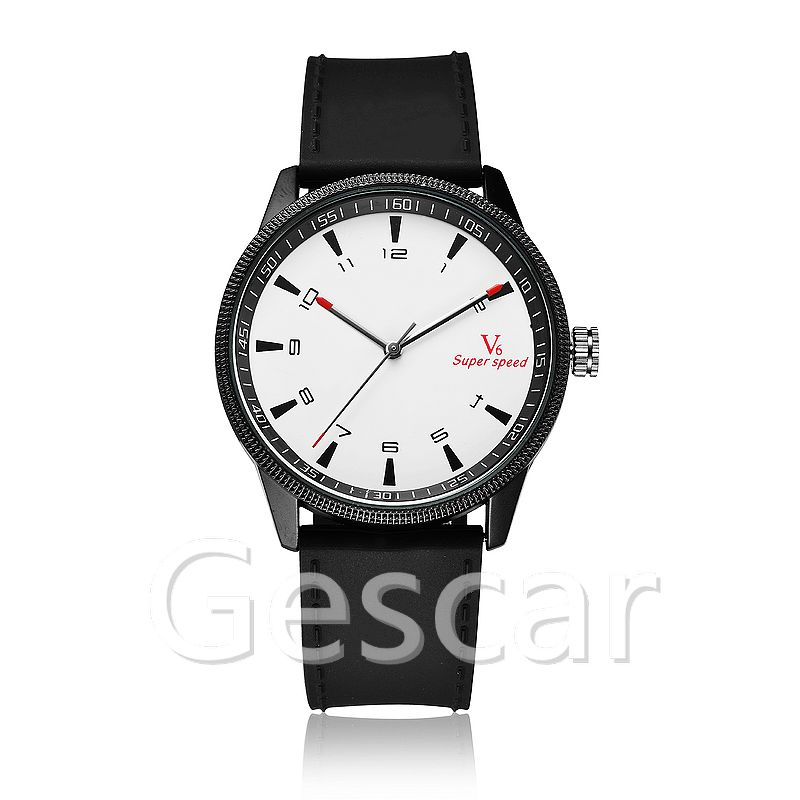 V6-B013B water proof watch for mens fashion leather wrap quartz high quality V6 casual wrist watch