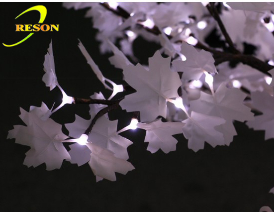 High Quality Led Blue Tree Maple Leaf Outdoor Artificial