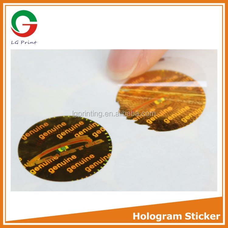 disposable hologram stickers with tamper proof material