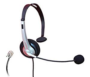 Audicom Call Center Telephone RJ Headset Noise Cancelling Headphone with Microphone for Grandstream GXP14XX GXV3275 IP Phones