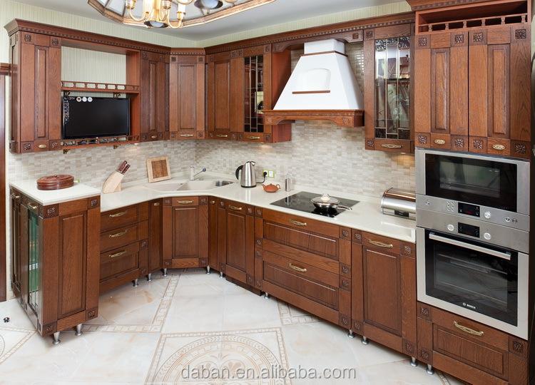Solid Wood Modern Design Cebu Philippines Furniture Kitchen Cabinet