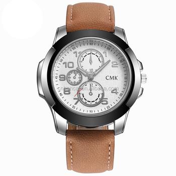 Pulsera 2 Deportes Correa Hombres Lujo Cuarzo Alta Color Reloj Casual Marca De Buy Libre Cmk Al Aire Cuero Moda Relojes Calidad PkuXZi