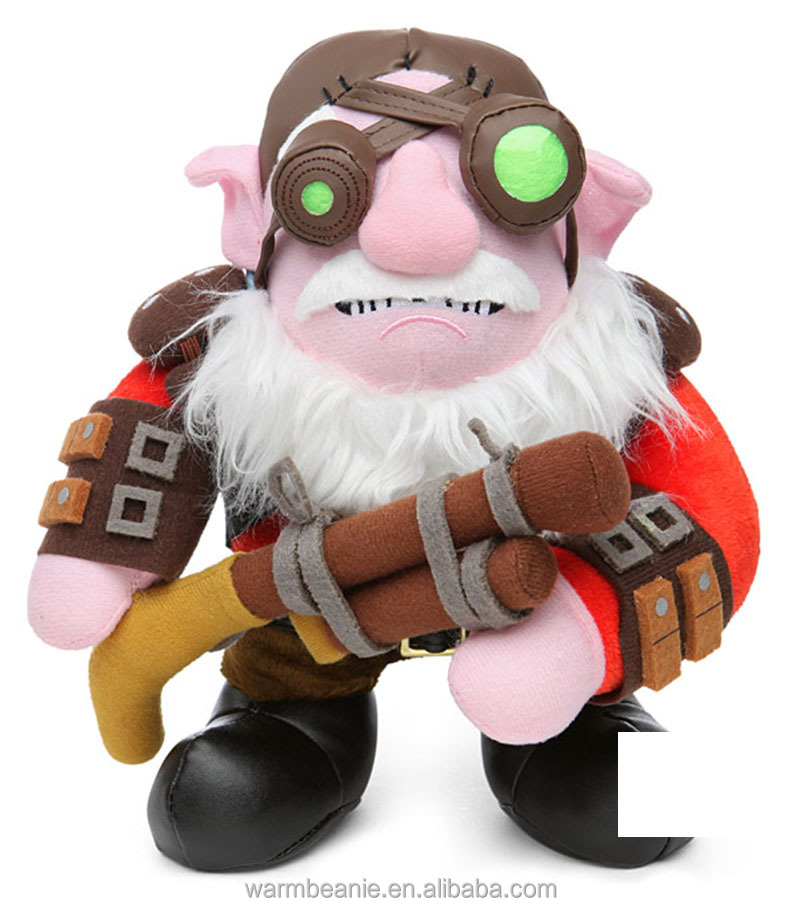Best price wholesale popular good quality plush armour big white beard character holding guns toys