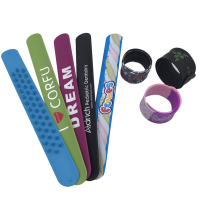 Boce 100% Eco Friendly Custom Silicone Slap Bracelet