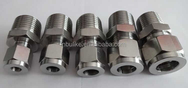304/316 Stainless steel 90 degree elbow tube fitting with double ferrule