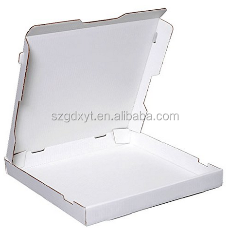 White Cardboard Box Pizza Calzone with a basic unprinted exterior and sturdy, corrugated cardboard construction