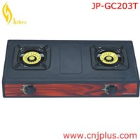 JP-GC203T Africa Coating Icon Panel Two Burner Indoor General Gas Cooker