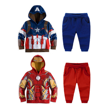 Kid's Clothes Super Hero Iron Man Cotton Cool Children's Long Sleeves Hoodies