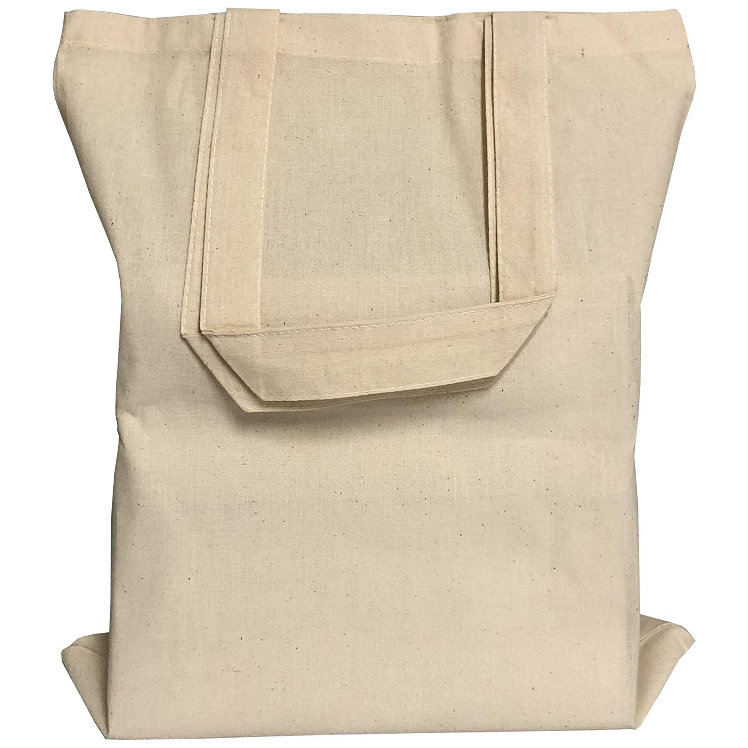 5f1e0bd53fce BagzDepot 24 PACK Cotton Canvas Reusable 15 inch by 16 inch Blank  Promotional Wholesale Tote Bags