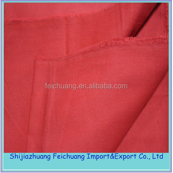 cheapest price thick cotton twill fabric for workwear
