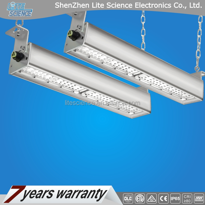 DLC ETL linear high bay light, wiring-through connection, new products in 2016