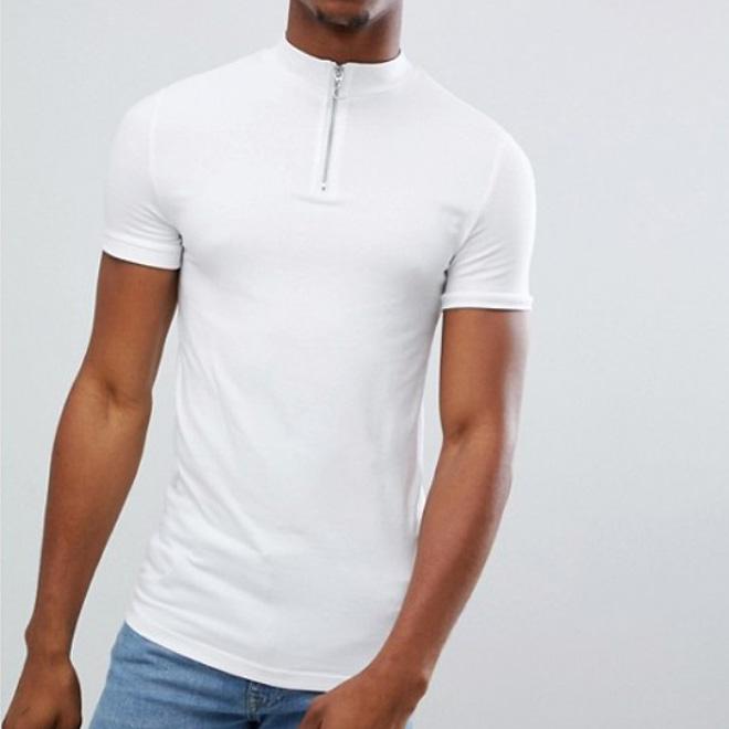 771adecf646 Nuevo diseño de verano barato de alta calidad para hombre blanco cuello de  tortuga camiseta con