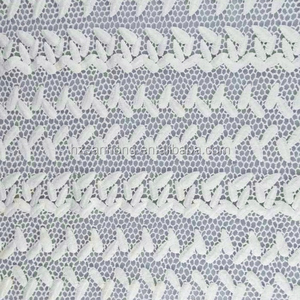 Latest new design cotton water soluble embroidery lace fabric with holes