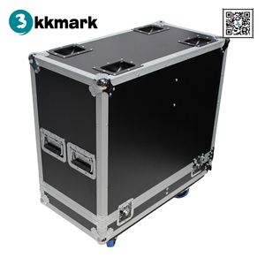 Kkmark Fits 2x RCF ART 312-A MKIII Two-Way Speaker Flight Case with 4 inch Wheels