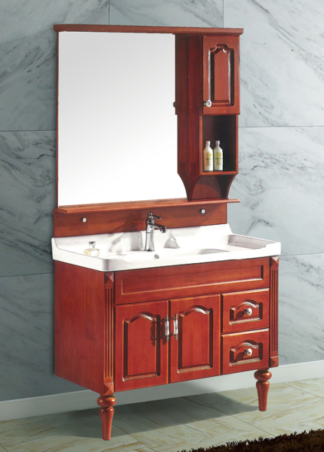 Factory In Foshan Elegant Classical Free Standing Solid Wood Bathroom Cabinets Buy Free