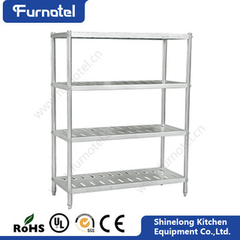 Good Quality Kitchen Customizable 4 Layers Stainless Steel Commercial Kitchen Shelf