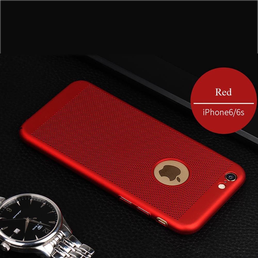 Free sample Pierced heat dissipation ultra thin hard pc plastic protective Shockproof for iphone 7 7plus phone case