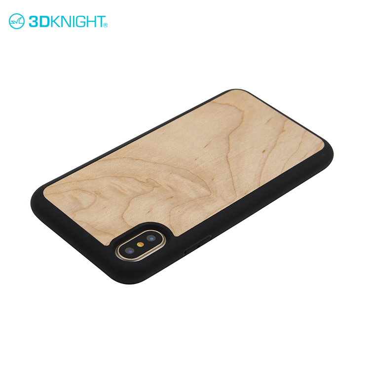 Real maple wood screne protector cellphone cover case for iphone x plus case hybrid shockproof