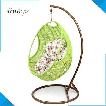 steel wicker green hanging egg chair with stand wooden baby jhula wicker egg shaped chair. Black Bedroom Furniture Sets. Home Design Ideas