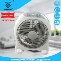 14 inch chinese foshan appliance box fan with stand low voice