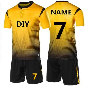399ef8cb426 2019 New Kids Adult personality Soccer Jersey Set Football Kit Men child  Futbol Training Uniforms set