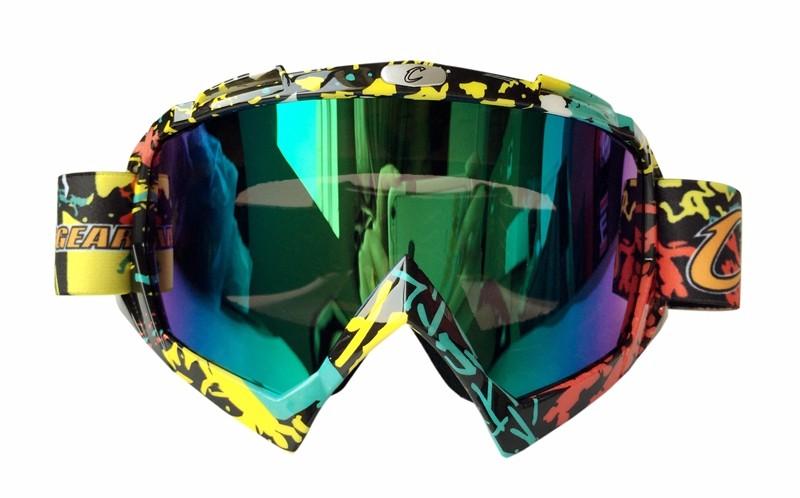 2017 Cyclegear Motor bike Goggle Sport Motocross Gafas Rainbow Lens CG11