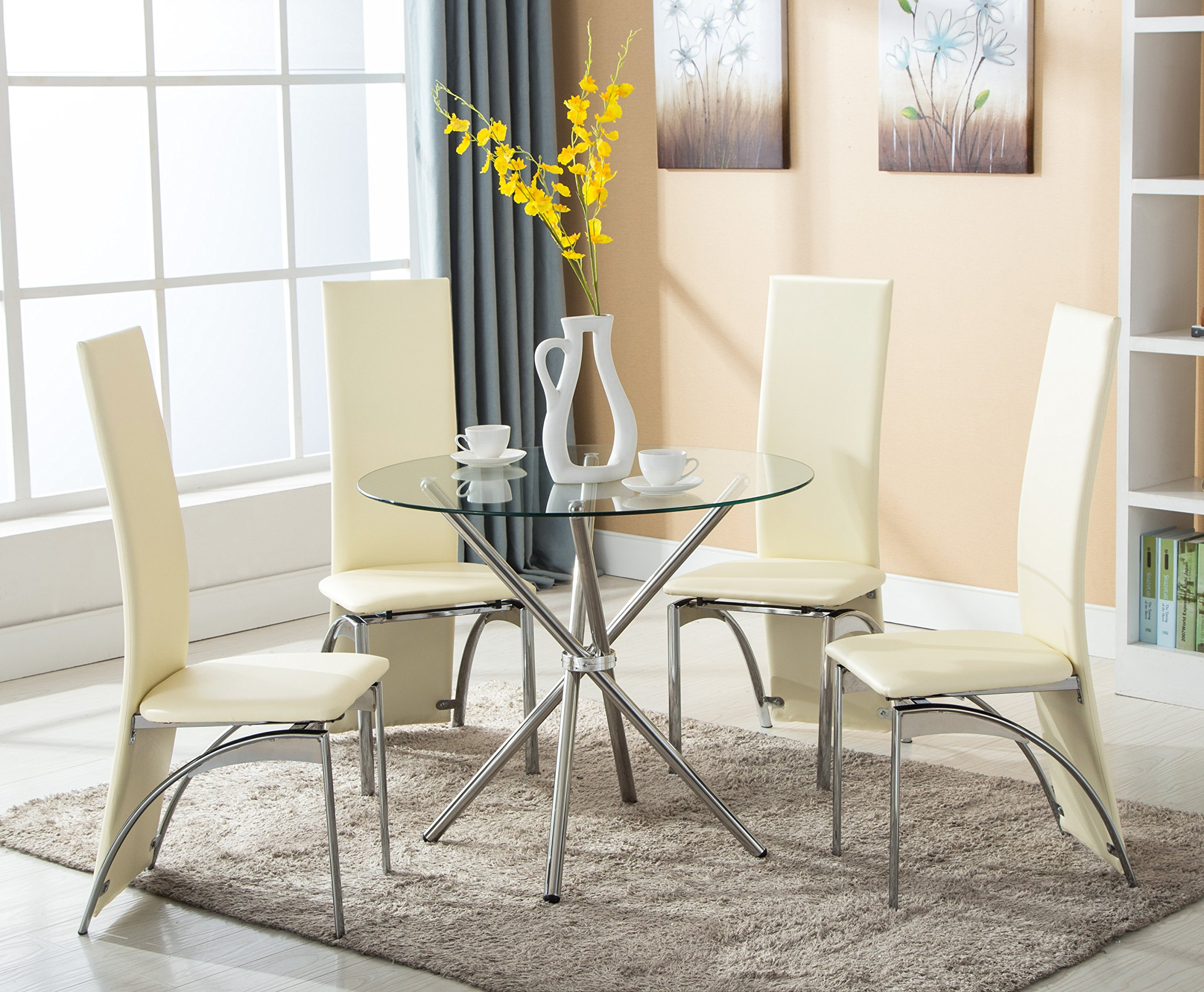 Cheap Glass Round Dining Table And Chairs Find Glass Round Dining - Round dining room table with 4 chairs