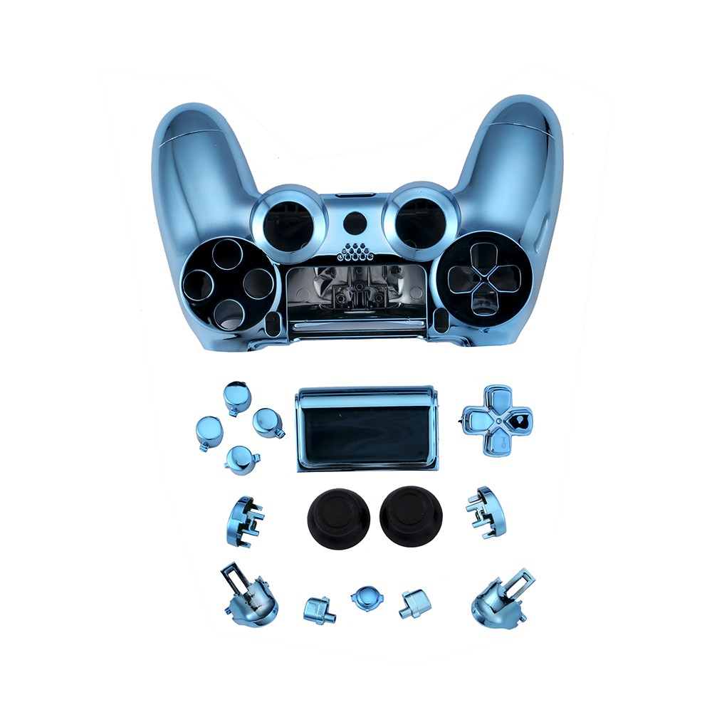 chrome housing case controller full set buttons for PS4 pro JDM 040 game pad