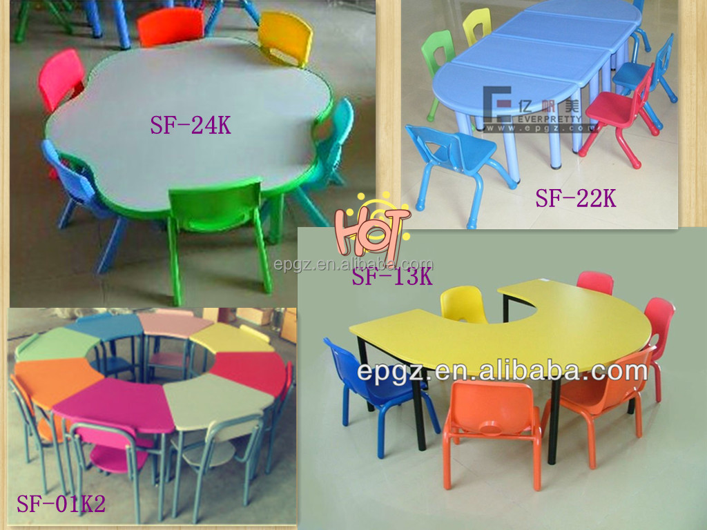 Ergonomic model kids study table for 4 persons - Sillas de salon modernas ...