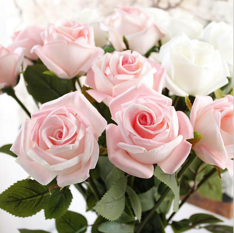 Artificial Flower Wholesale PU Rose Flowers Artificial Decorative Artificial Flower