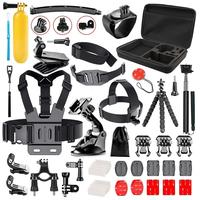 Followsun 52-In-1 Sports Action Camera Accessories Kit for Go Pro SJ Cam