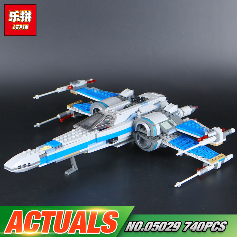 740PCS NEW LEPIN 05029 Star Series War The X Toys Wing Set fighter Set Building Blocks Bricks assembled 75149